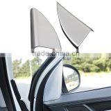 1 Pair Car ABS Chrome Front Door Triangle Pillar Cover Interior Decorative Molding Trim For Hyundai Tucson 3th 2015 2016 LHD