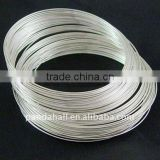 Stainless Steel Memory Wire, Necklaces Making, Silver, 11.5CM, Wire: 1.0mm, about 250 circles/500g(MW11.5CM-1-S)