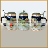 handmade 3D ceramic beer steins beer mug wholesale                                                                         Quality Choice