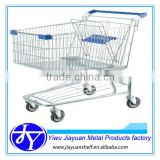 Steel Material and Zinc Plated Surface Handling American supermarket trolley with baby seat