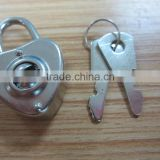 2015 Hot Sale Solid Elegant Brass Double Heart Padlock, Wish Lock, Love Padlock Love Lock