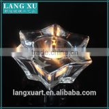 double triangles six rayed star candle holder bling coloured glass crystal tealight candle holder