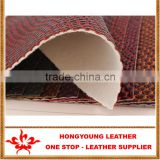 "54""-55"" Width Knitted Technics PVC artificial leather for Shoes,Bag,gloves,Car Seat,Chair,Belt,Garment ,decoration"