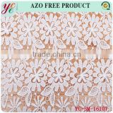 Fashion white cute six leaf petals flower hollow out lace fabric embroidery wedding embroidery lace fabric