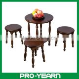 Wooden Coffee Tea Table Chair Set for Living Room and Bedroom and Dining Room