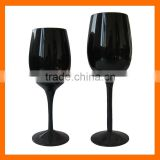 Black wine glass,drinking glass set