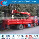FAW 4X2 mini truck crane truck with loading crane lorry truck with crane used crane truck lifting truck