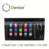 "7"" Ownice android 4.4 quad core car GPS system for Audi A4 S4 support bluetooth handsfree"