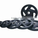 Black color Rubber covered disks/weight plates with 5 holes