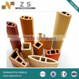 Clay stick, Cladding wall louver, modern house contruction material, sunscreen louver/stick,Terracotta baguette