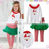 factory price white 2pcs baby girls wholesale christmas stockings
