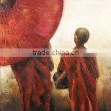 Artistic Lama abstract modern textured canvas oil painting