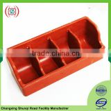 Multi-function pig feed trough for pig feeding equipment