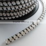 electric fence Bungee cord of braided rope in rubber core