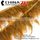 ZPDECOR Bulk Sale High Quality Beautiful Chicken Bleached Colored Champagne Rooster Feathers Plume Trims