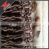 2014 new style printing brushed PV plush fabric