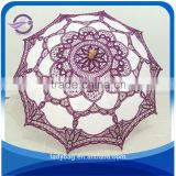 100^cotton lace wedding parasol craft umbrellas