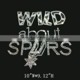 Sport Basketball Team Hotfix Motif Wild about Spurs Rhinestone Transfer