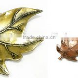High Quality clear leaf tray brass antique, Aluminium Decoration Leaf Tray, Hand made Copper Antique Leaf Tray