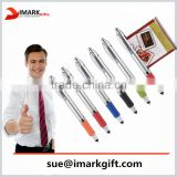 high quality banner touch pen with roll out paper multifunction ballpoint pen