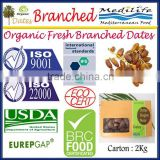 Organic Fresh Branched Dates, Deglet Noor Dates, Organic Dates , Fresh Branched Dates 2 Kg Carton