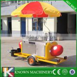 Small on street hand push stainless steel hot dog car,hot dog trailer