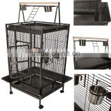 Large Bird Cage Parrot Finch Macaw Cockatoo Play Top Perch grate Pet Supplies