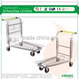 Industrial tablet warehouse trolley shopping cart