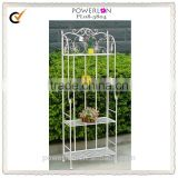 Vintage Wrought Iron 4 Tier Metal Flower Shelf For Home Decoration Patio Indoor and Outdoor PL08-5804