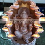 manufacturer wholesale elephant polyresin led waterfall buddha fountain