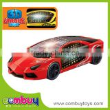 Cheap 3D plastic toy battery operated car racing play games