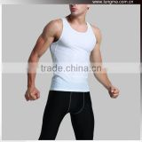 White and Black Blank Compression Shirt Tops and Bottom Pants Tights For Fitness Running