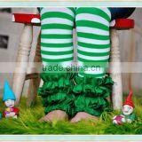 christmas green and white stripe icing ruffle boutique pants sew sassy icing legging triple ruffle icing pants girls