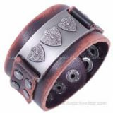 Wholesale Euramerican Vintage Leather Cuff Bracelet Jewelry Supplier