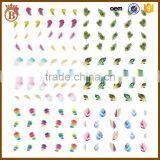 Hot Water Transfer Nail Art Sticker Feather Tip Decal