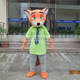 Supply OEM service type fox mascot of animal mascot costume for adult man