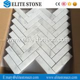 1X4 Italian white carrara herringbone marble mosaic tile for bathroom wall
