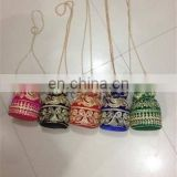 bag wedding gift jewelry pouches/pouch festival handmade Women's ladies partywear designer Drawstring Potli clutch wallet purse