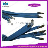 Flat Polyester Elastic Bungee Cord with Plastic Barb end For Handle Bag