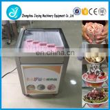 Commercial ice cream roller making machine
