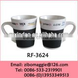 2014 Hot Sale Wholesale Zibo Made Kids Personalized Chinese Porcelain Tea Cup with Chalk