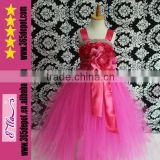 Red Long Tutu Dress Beauty Pageant Dresses For Girls Evening Gowns Wholesale