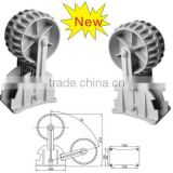 Boat Launching Wheels - for Dinghy/Inflatable/Aluminum/RIB Flip up BOAT wheels