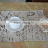 linen & polyester printed custom printed placemats