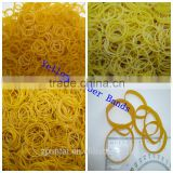 Strong Yellow Color Elastic Rubber Bands Office Packing Supply                                                                         Quality Choice
