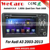 HD 1024 x 600 Android 4.4 Quad Core Car DVD Player GPS Navigation for Audi A3 S3 2003-2013