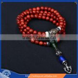 8mm Nepal Tibetan Rosewood 108 Beads Full Mala Necklace for Meditation and Yoga