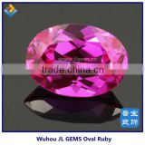 Wholesale Lab created ruby gemstone oval shape with High Quality