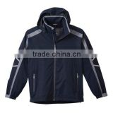 black windbreaker contrast color brand micro fleece jacket
