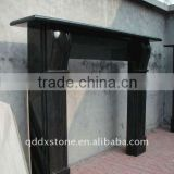 natural shanxi black granite fireplace